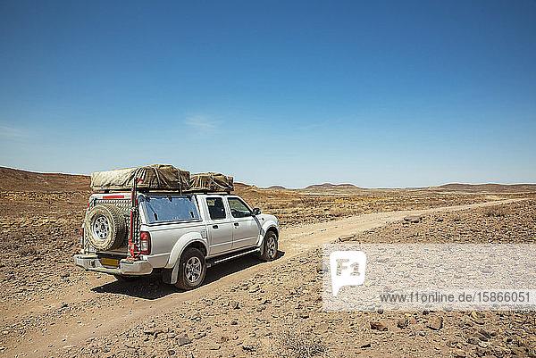 On the road to Brandberg Mountain  Damaraland; Kunene Region  Namibia