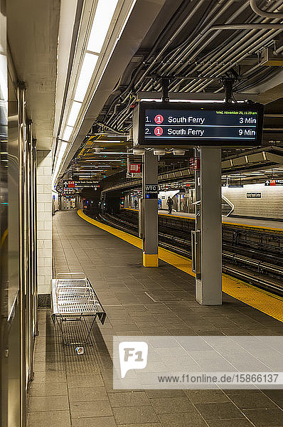 Subway Station  World Trade Center  9/11 Memorial and Museum; New York City  New York  United States of America