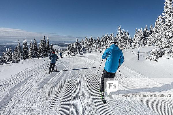 Downhill skiing  Sun Peaks Resort; Sun Peaks  British Columbia  Canada