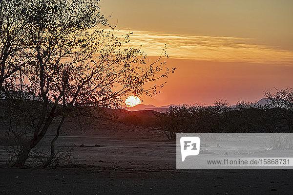 Sunset in Damaraland; Kunene Region  Namibia