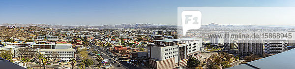 View of Windhoek's city center from the top of the Independence Memorial Museum; Windhoek  Namibia
