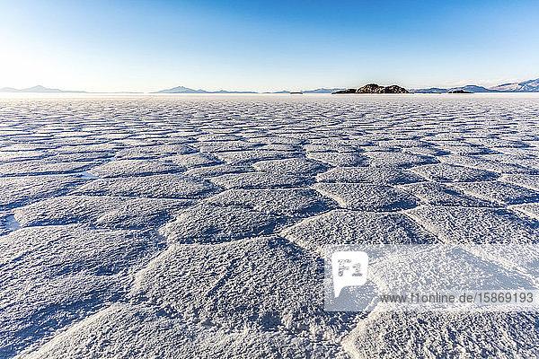 Landscape in the Salar de Uyuni; Potosi  Bolivia