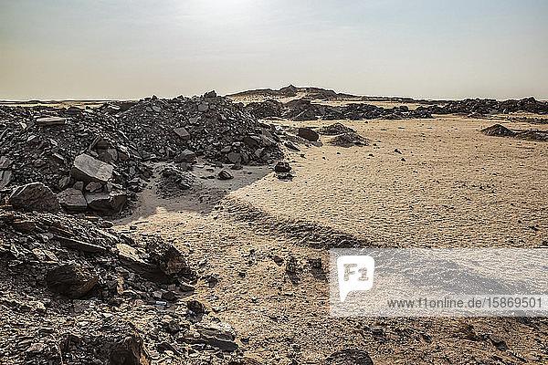 Lunar landscape near the Dead Sea  Skeleton Coast  Dorob National Park; Namibia