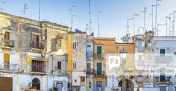 Old houses in the historic centre of Bari  Apulia  Italy  Europe