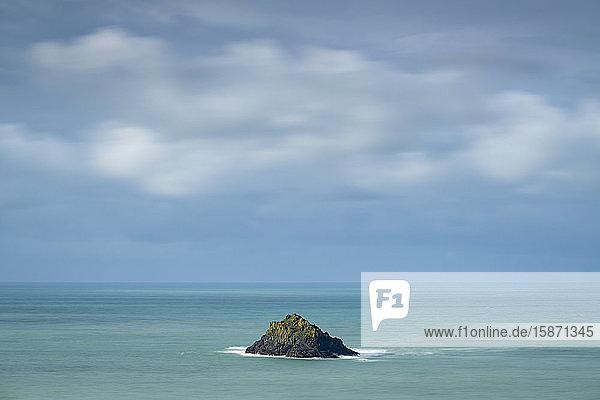 Newland Island off the coast of Pentire Point  North Cornwall  England  United Kingdom  Europe