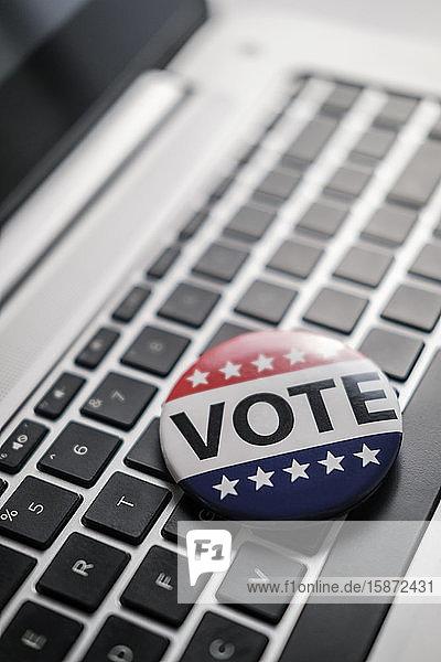 Vote button on laptop keyboard Vote button on laptop keyboard