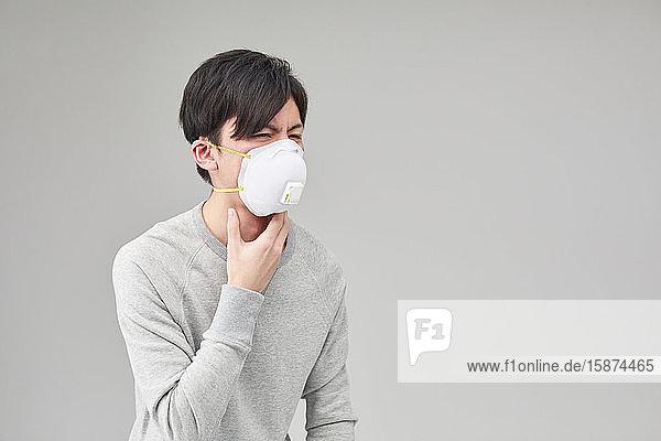 Japanese man wearing mask