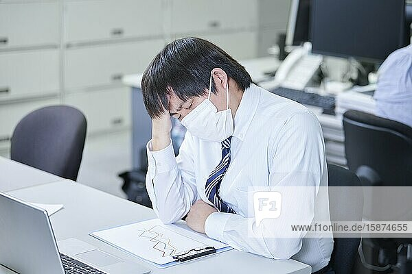 Japanese businessman in the office