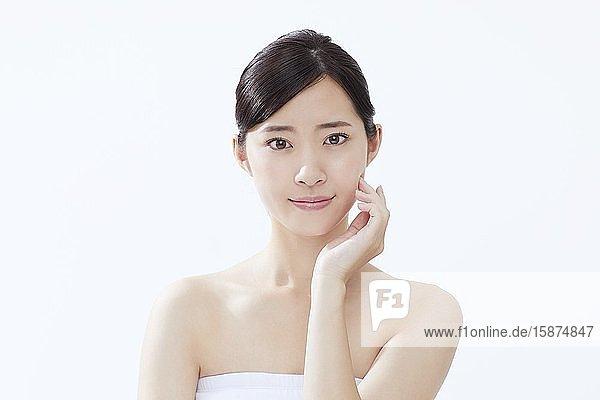 Young Japanese woman studio portrait