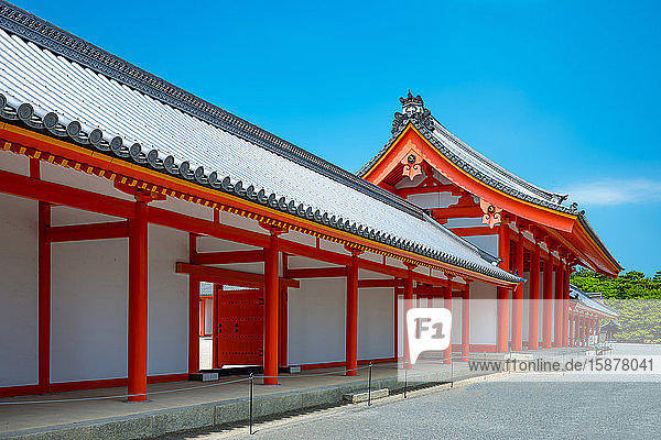 Japan  Kyoto  the ancient wooden architectures of the Imperial Palace courtyard