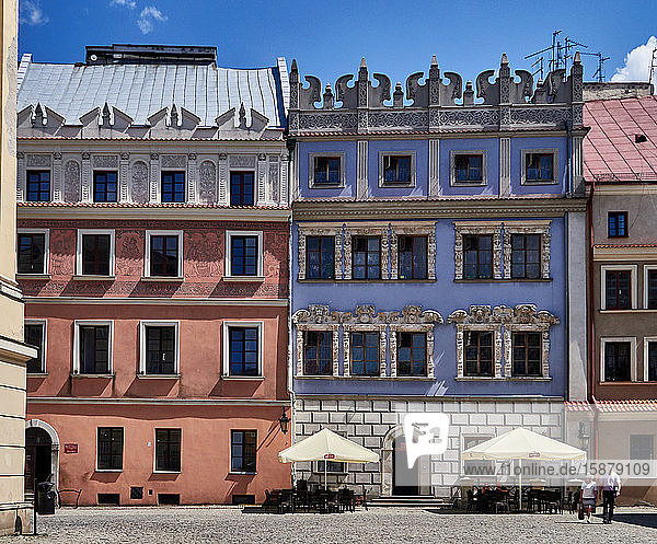 Europe  Poland  Lublin province  Lublin city  painted house in the Market Place ' Rynek ' in the old town