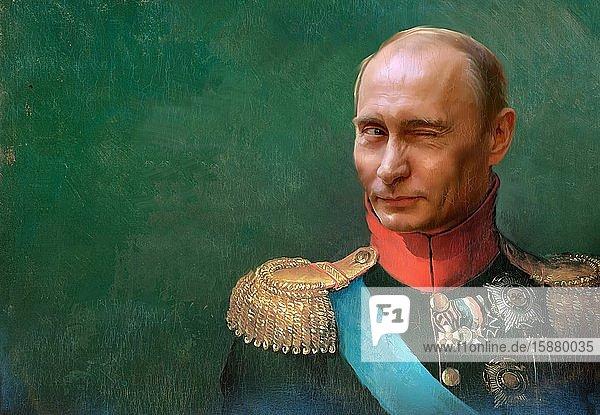 Illustration  Putin as tsar  winks