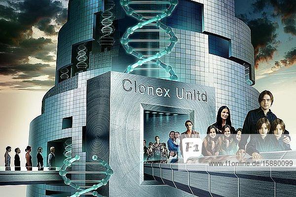 Illustration  human cloning