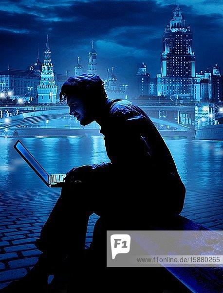 Illustration  russian hacker