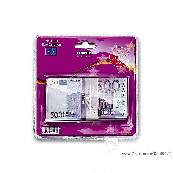 Illustration  bundle of 500 euro banknotes