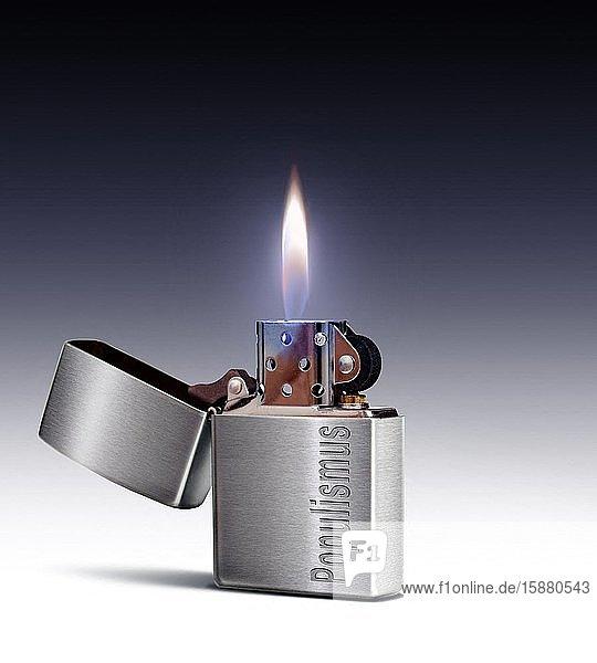Illustration  populism  Marlboro branded cigarette lighter by Zippo