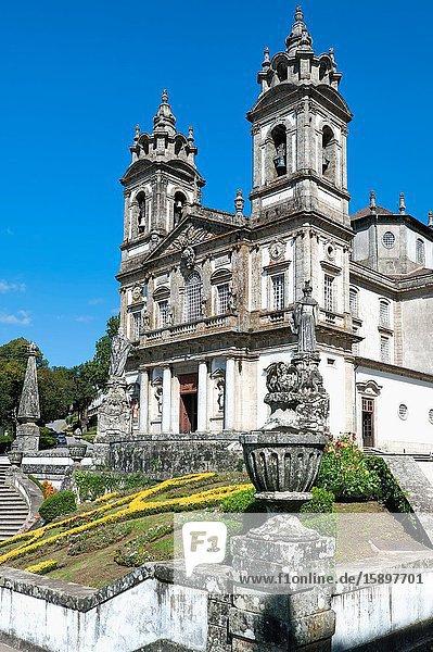 Santuario do Bom Jesus do Monte  Good Jesus of the Mount sanctuary  Church  Tenoes  Braga  Minho  Portugal.