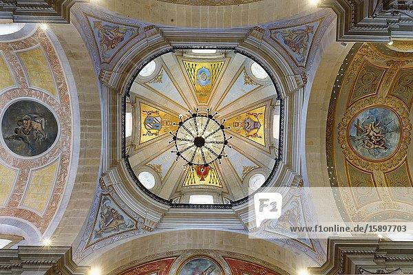 Santuario do Bom Jesus do Monte  Good Jesus of the Mount sanctuary  Church ceiling  Tenoes  Braga  Minho  Portugal.