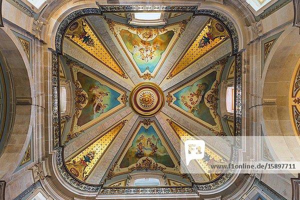 18th century Sao Marcos Church ceiling  Braga  Minho  Portugal.