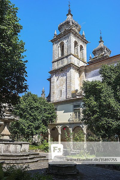 St. Martin of Tibaes Monastery  Cemetery Cloister and fountain  Braga  Minho  Portugal.