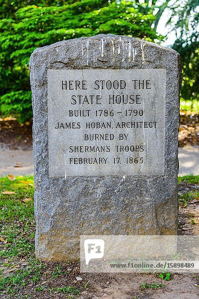 Site of the original statehouse Columbia South Carolina home of the Statehouse Capital building with a rich history.