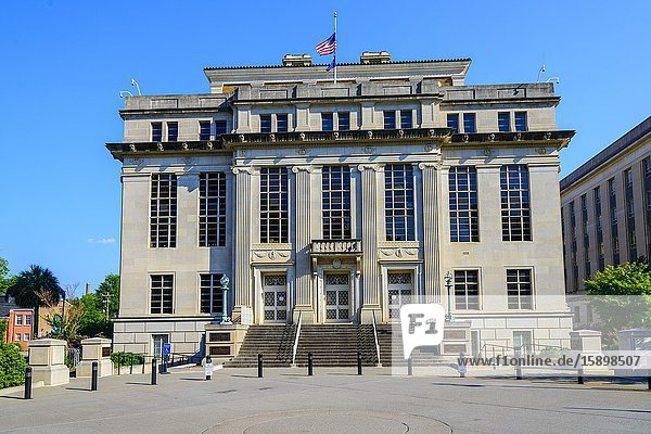 John C Calhoun office building Columbia South Carolina home of the Statehouse Capital building with a rich history.