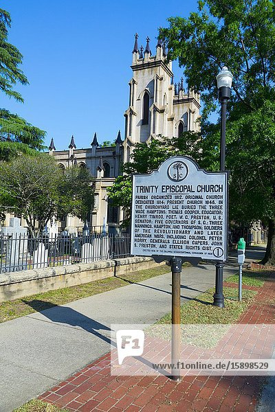 Trinity Episcopal Church Columbia South Carolina home of the Statehouse Capital building with a rich history.