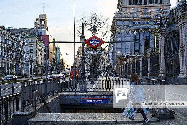 Underground next to Cibeles Square on March 13  2020 in Madrid  Spain.Spain is now the second hardest hit European country next to Italy in Covid-19 cases.