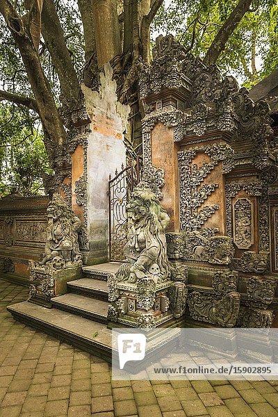 Pura Dalem Agung Padangtegal (Hindu temple of Death)  Sacred Monkey Forest Sanctuary  Ubud  Bali  Indonesia.