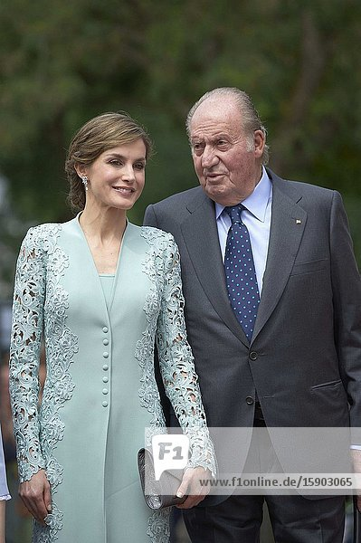 King Juan Carlos of Spain  Queen Letizia of Spain arrived Asuncion de Nuestra Senora Church for the First Communion of Princess Sofia on May 17  2017 in Aravaca near of Madrid.King Felipe VI has decided to renounce the inheritance of King Juan Carlos of Spain 'that could personally correspond to him ' announced this Sunday the Casa del Rey  in a statement in which he also advances that King Juan Carlos of Spain stops receiving the assignment he has fixed in the Budgets of the House of SM the king.