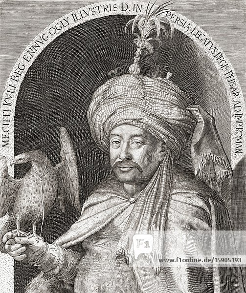 Mechti Kuli Beg  Ambassador of Shah Abbas I of Persia to Emperor Rudolf II in Prague in the early 17th century.