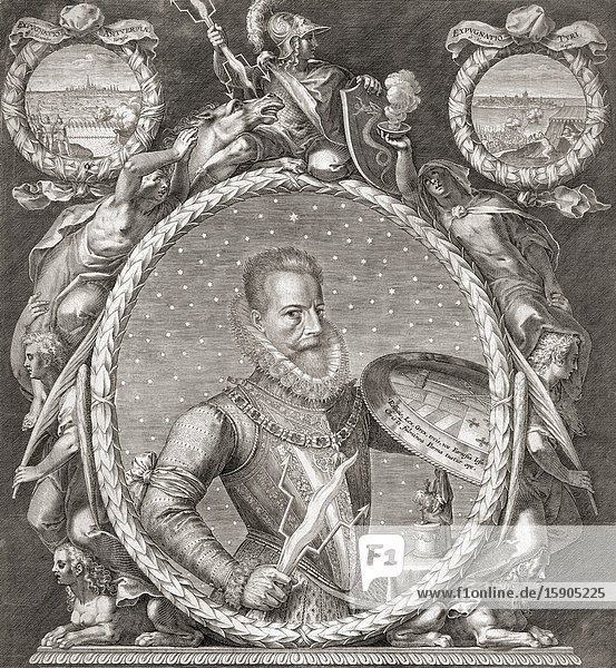 Alessandro Farnese  1545 to 1592  Duke of Parma and Piacenza from 1586 to 1592 and Governor of the Spanish Netherlands from 1578 to 1592.