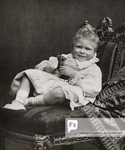 EDITORIAL Prince Albert Frederick Arthur George  future George VI  1895-1952. King of the United Kingdom and the Dominions of the British Commonwealth. Seen here as a small child. From King George the Sixth  published 1937.
