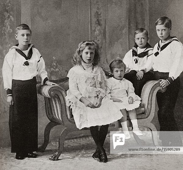 EDITORIAL The children of king George V. Left to right  Prince Albert  Princess Mary  Prince George  Prince Henry and the Prince of Wales. Prince Albert Frederick Arthur George  future Duke of York and George VI  1895-1952. King of the United Kingdom and the Dominions of the British Commonwealth. Mary  Princess Royal and Countess of Harewood  1897-1965. Prince George  future Duke of Kent  1902-1942. Prince Henry  future Duke of Gloucester  1900-1974. Prince Edward the Prince of Wales  future Edward VIII and later Duke of Windsor  1894-1972. From King George the Sixth  published 1937.