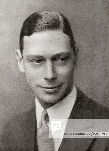 EDITORIAL Prince Albert Frederick Arthur George  future George VI  1895-1952. King of the United Kingdom and the Dominions of the British Commonwealth. From King George the Sixth  published 1937.