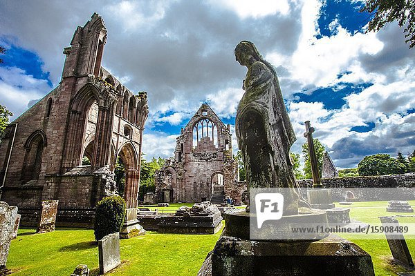 Cemetery  Dryburgh Abbey  Scottish Borders District  Scotland  United Kingdom  Europe.