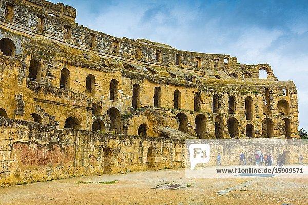 Amphitheatre of El Jem. El Jem. Tunisia  Africa.