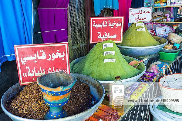 Spices market. Gabes city  Tunisia. Africa.