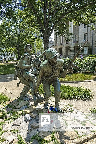Viet Nam Veterans War Memorial Raleigh a city in NC North Carolina and current state capitol capital statehouse.