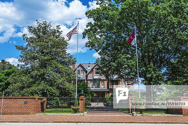 Governor Execttive Mansion house home in Raleigh a city in NC North Carolina and current state capitol capital statehouse.