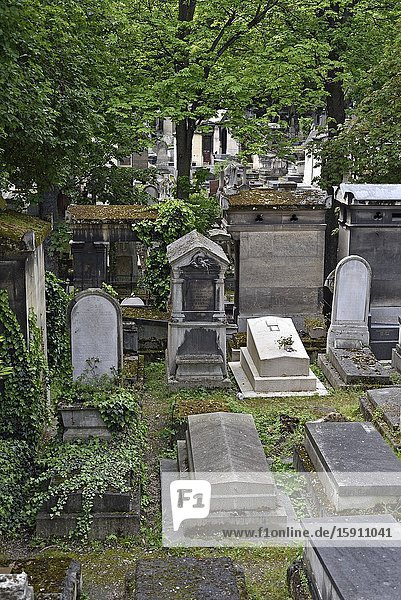 Montmartre Cemetery (French: Cimetiere de Montmartre)  18th arrondissement  Paris  Ile-de-France region  France  Europe.