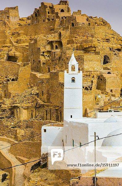 Chenini ruined village. Tunisia  Africa.