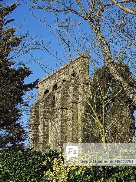 Medieval Eglise Saint Pierre church in Tourtres  Lot-et-Garonne Department  Nouvelle Aquitaine  France.