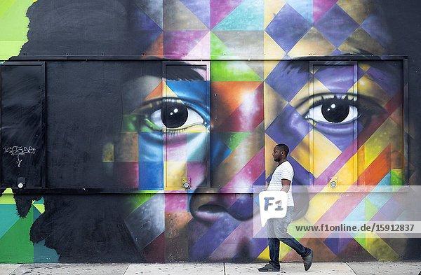 Wynwood Walls  Urban graffiti art Miami  Florida  USA..