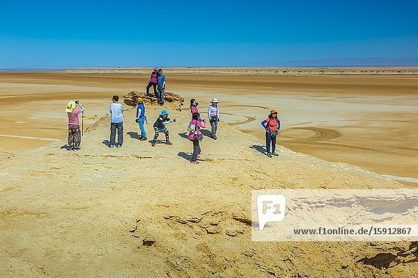 Sahara desert close to Tozeur city. Tunisia  Africa.