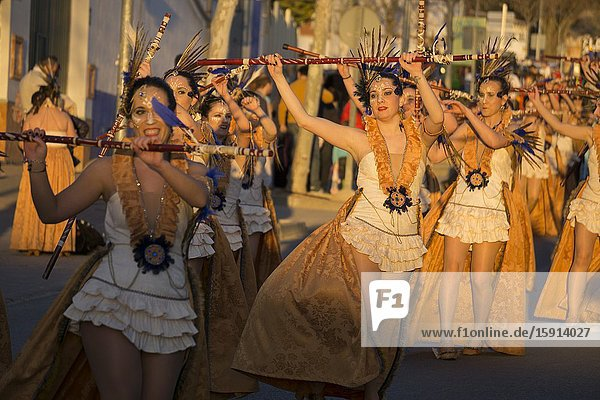 MOTA DEL CUERVO CUENCA SPAIN ON MARCH 4  2019: Great parade of Carnival.