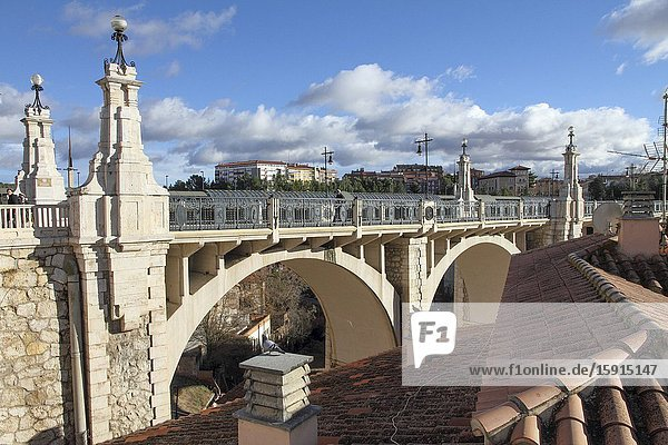 Viaduct bridge in Teruel city Aragon Spain.