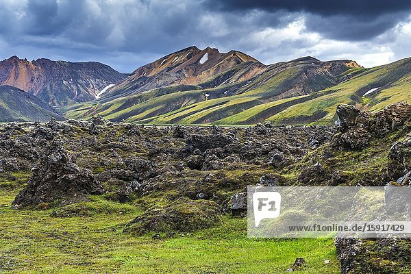 Landmannalaugar  Fjallabak Nature Reserve  Highlands of Iceland  Southern Region  Iceland.