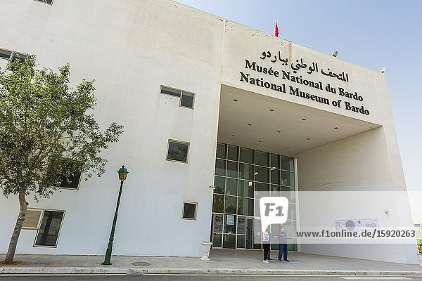 Facade view. Bardo National Museum. Tunis city. Tunisia  Africa.