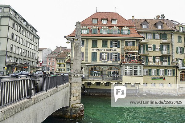 Thun is a medieval city in the administrative district of Thun in the canton of Bern  located where the Aare river flows out of Lake Thun Switzerland.